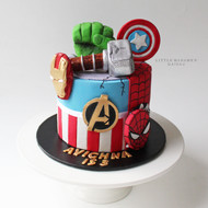 avengers captain america spiderman cake