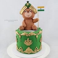teddy bear indian country cake