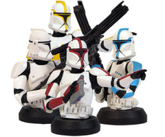 AOTC Clone Trooper Bust-Up 4-Pack