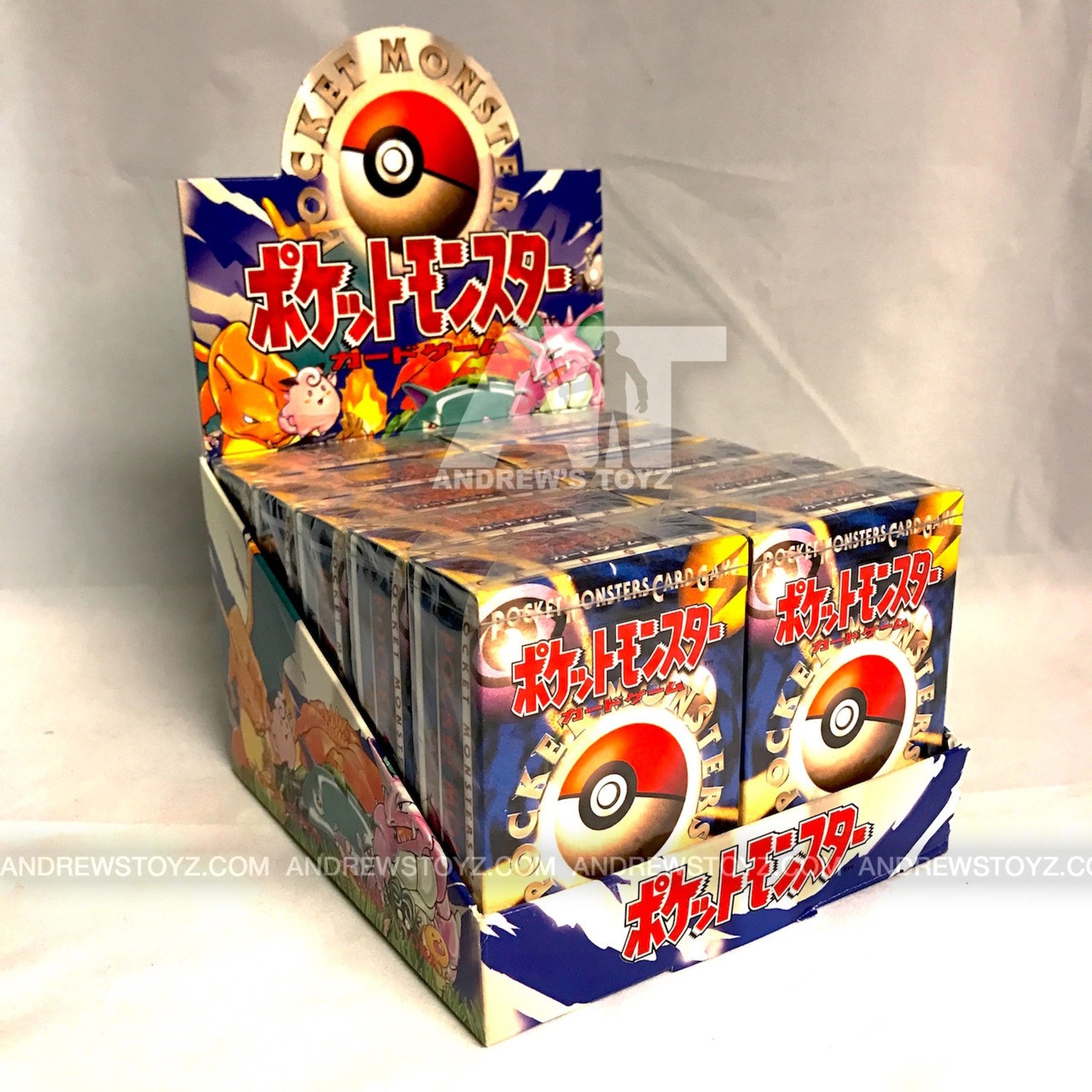 Pokemon Japanese Base Set Box of 10 Starter Decks