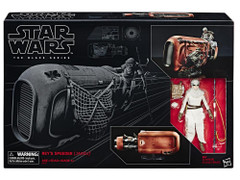 Black Series 6-inch Deluxe Rey with Speeder Figure Vehicle Set