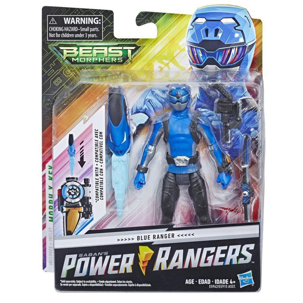 Power Rangers Beast Morphers 6-inch Blue Ranger Figure
