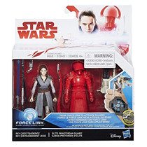 Force Link The Last Jedi 2-Pack Rey  and Elite Praetorian Guard