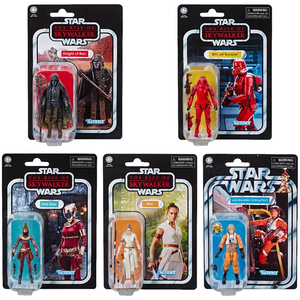 "Action Figure Set of 6 Wave 9 Hasbro Star Wars Kenner Vintage Collection 3.75/"""