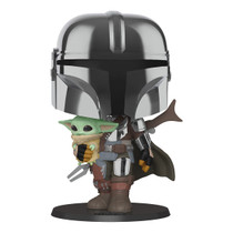 The Mandalorian Chrome 10-inch w/ The Child Pop!