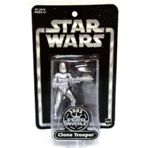 Silver Clone Trooper 2003 ToysRUs Exclusive