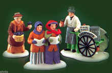 VIOLET VENDOR, CAROLERS, CHESTNUT VENDOR -  DEPT 56 ISSUED: 1989  RETIRED - 1992