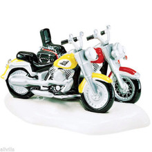 HARLEY-DAVIDSON® FAT BOY® & SOFTAIL® #54900 DEPT 56 RETIRED SNOW VILLAGE