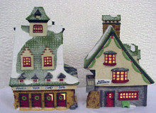 REINDEER BARN & ELF BUNKHOUSE set of 2 #56014