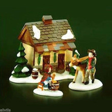 TENDING THE NEW CALVES 58395 DEPT 56 RETIRED DICKENS VILLAGE Makes a great farm