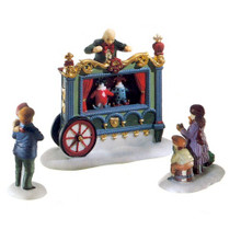 THE OLD PUPPETEER #58025 DEPT 56 - DICKENS VILLAGE ACCESSORY SET OF 3