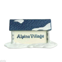 ALPINE VILLAGE SIGN #65714 Dept 56 RETIRED ALPINE VILLAGE ACCESSORY RETIRED 1993