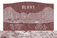Grave Marker | Double Upright | Wausau Red
