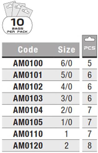 e59967824 COLMIC NUCLEAR 3 0 (6pcs) Steel Carbon Fishing Hooks MR21N - Adore ...