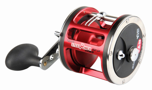 DAM QUICK STEELPOWER RED - HIGH QUALITY SALTWATER TROLLING/MULTIPLIER/ OVERCAST REELS - LH