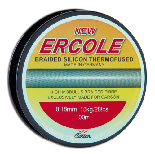 CARSON ERCOLE- 0.20mm (33Lbs)/100m spool- HIGH QUALITY BRAIDED SILICON THERMOFUSED LINE