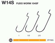 FUDO BOX OF HOOKS JAPAN FUDO WORM 4801/4701 no 2/0-1/0