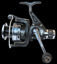 TEBEN BBS 500RD REAR DRAG SPINNING REEL BIG SIZE 5000 8+1 ball bearings (BB) Capacity: 150m of 0.40 mm Aluminium Spool, Spare Aluminium spool Micro adjustable, multi-disc rear drag Gear Ratio: 4.9:1