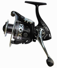 TEBEN JET 400FD FRONT DRAG SPINNING REEL MEDIUM SIZE 4000 4+1 ball bearings (BB) Capacity: 160m of 0.35 mm Aluminium Spool, Spare graphite spool Micro adjustable, multi-disc front drag Gear Ratio: 4.5:1