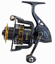 GARBOLINO AVENGER 60FD SPINNING REEL/ Big Size 6000/ Front Drag/ 6+1 ball bearings (BB)/ Capacity: 145m of 0.40mm/ Perforated Aluminium Spool/ Extra Graphite Spool/ Infinite anti-return/ Gear Ratio: 5.2:1