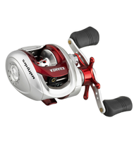 SAKURA KUANZA BAITCASTING REEL/ Medium Size #3000/ Metal Frame/ Titanium line guide/ 5 ball bearings (BB)/ Capacity: 120m of 0.30 mm/ Easy setting magnetic casting brake system/ Powerful and progressive Dartainium fighing drag/ Gear Ratio: 6.2:1