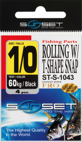 SUNSET  ROLLING W/ T-SHAPE SNAP ST-S-1043  N4  35KG X4