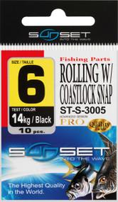 SUNSET ROLLING W/ COASTLOCK SNAP ST-S-3005  N1/0  45KG X4