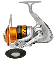SUNSET SUNFORCE 6503FD SURF SPINNING REEL/Size 5000/ Front Drag/3 ball bearings (BB)/ Capacity: 300m of 0.20mm/ Perforated Aluminium Spool/ Extra Aluminium Spool/ Infinite anti-return/ Oversized Roller/ SS Screws/ Gear Ratio: 5.2:1