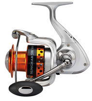 SUNSET SUNGEAR SW6503FD SURF CASTING-SALTWATER SPINNING REEL/ Size 5500/ Front Drag/3 ball bearings (BB)/ Capacity: 165m of 0.50mm/ Alloy Spool/ Extra Carbon Spool/ Infinite anti-return/ Reinforced Bail Arm/ Gear Ratio: 4.1:1