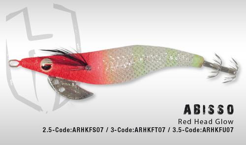 HERAKLES ABISSO 3.5 (Red Head Glow)- Hardbait Squid