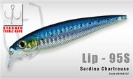 HERAKLES LIP 95S (Sardina Chartreuse) - Hardbait Slow Sinking Jerkbait