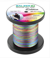 BALZER EDITION SEA Ultra High Quality 8x Strand Spectra Braided Line Multicolour 0.16mm (13.5 kg/ 30 Lbs) 1500m spool