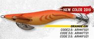 HERAKLES ABISSO 3.5 (Orange EBI) - Hardbait Squid