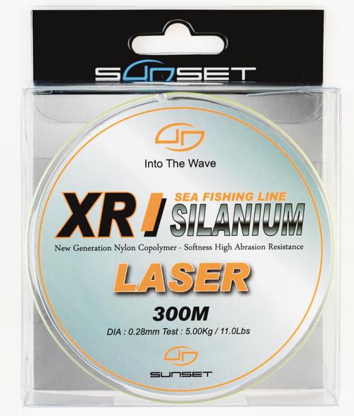 SUNSET XR SILANIUM LASER 300m 0.28mm 5.00Kg/11lb Monofilament Line