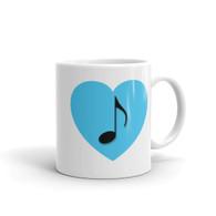 Mug - Blue Heart Note