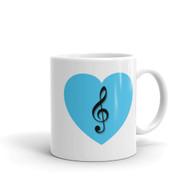 Mug - Blue Heart Treble