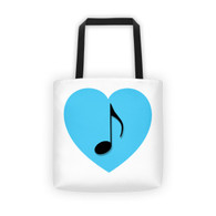 Tote - Blue Heart Note