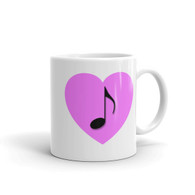Mug - Pink Heart Note