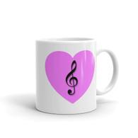 Mug - Pink Heart Treble