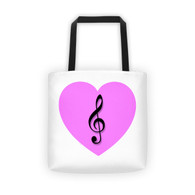 Tote - Pink Heart Treble