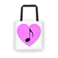 Tote - Pink Heart Note