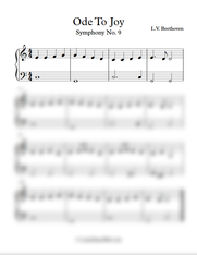 Easy: Ode To Joy - L.V. Beethoven