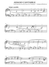 Pathetique Sonata, 2nd mvmnt - LV Beethoven (Easy)