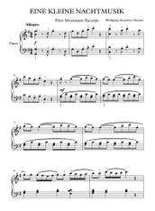Eine Klein Serenade - Mozart (Easy)