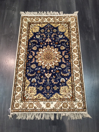Hereke silk blue 122 x 74 cm nd66/7