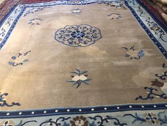 Antique Chinese Carpet 284x244 cm