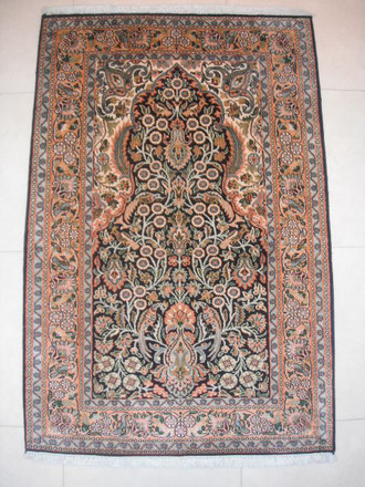 Indian Kashmir Silk 123x81 NC 109/ 37