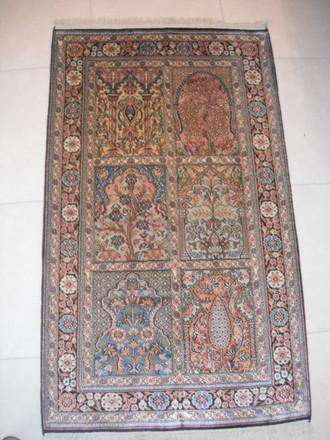 Indian Kashmir Silk 127x76 cm ND 175/ 45