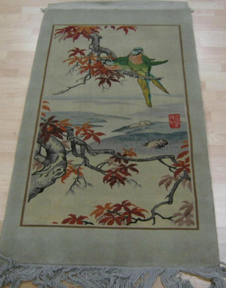 Chinese Hand Knotted Tapestry 147 x 76 cm