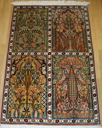 Indian Kashmir Silk 97x63 cm ND 175/24